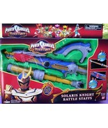 Power Rangers MYSTIC FORCE Solaris Knight Battle Staff NEW Lights and So... - $54.99