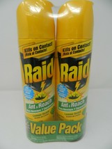 Raid  Ant & Roach  Kills on Contact Value Pack.  Lemon Scent pack of 2. ... - $18.79