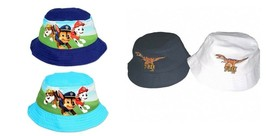BOYS BUSH HATS DINOSAUR OR PAW PATROL 3 COLOURS 2 SIZES - $4.91+