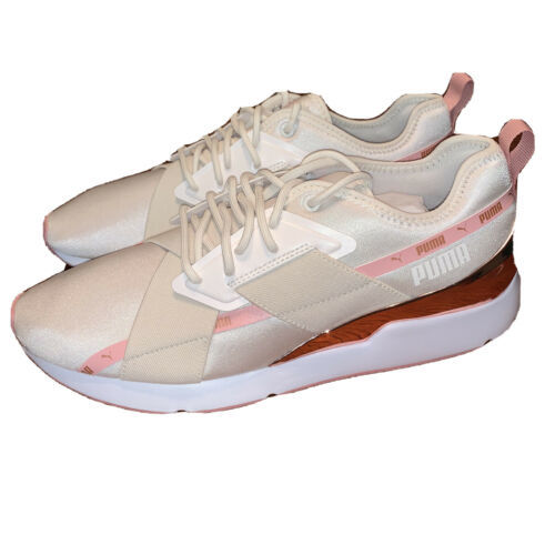 Women's PUMA Muse X-2 Casual Shoes 370838-03 Pink Rose Gold Pastel - $44.55