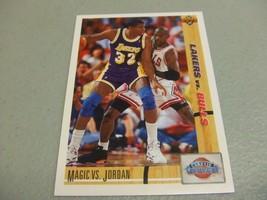 1991-92 Upper Deck #34 Magic Johnson & Michael Jordan Classic Confrontation - $3.12