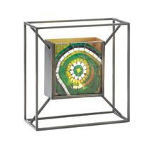 #10017596 *Mosaic Green Accent Square Candle Wall Sconce* - $43.88 CAD