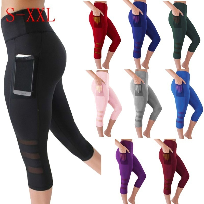 Women Legging Black Leggins Sexy Net Women Leggings Knitted Workout Clothes for sale  USA
