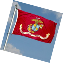 G128 - USMC US Marine Corps Flag 3x5 ft Printed United States Marine Cor... - $13.49