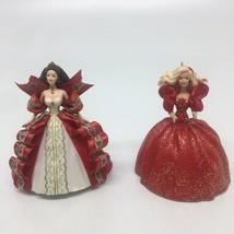 "2 Hallmark Keepsake Ornament ""Holiday Barbie - 1993 -1997 (No Box) - $9.49"