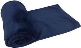 bleu uni lavable en machine Couverture Couvre-lit polaire 140cm x 180cm - $35.43