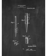 Pencil Grip Patent Print - Chalkboard - $7.95+