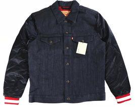 Levi's Strauss Men's NFL Team 49ERS Button Up Denim Jean Bomber Jacket 181930001 image 4