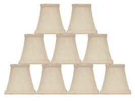 Urbanest Set of 9 Square 4-inch Softback Bell Chandelier Lamp Shade, Cream, Faux - $54.44