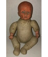 """Antique 1910 HORSMAN Composition Cloth 12"""" Baby Doll AS IS Creepy Bald N... - $234.95"""
