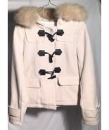 Japanese Women's L Light Pink Winter Coat Fur Hood Removable Lining MOD ... - $29.69