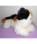 Aurora Esmeralda Calico Cat Kitty Puppet Plush Stuffed Animal Spots Blue... - $11.37
