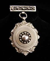 Vintage brooch  / Industrial era / mens lapel pin / hanging medal / mili... - $70.00