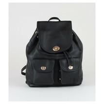 Coach Mini Turnlock Rucksack in Black Leather - £193.04 GBP