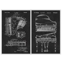 Piano Musical Instrument Patent Print Posters –... - $22.50 - $35.50