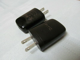Lot of 2 HTC 79H00095-01M U250 5V USB AC DC Cell Phone Charger Power Ad... - $7.87