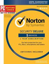 Symantec Norton Security Deluxe – 5 Devices – 1 Year Subscription [PC/Ma... - $45.39