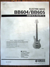 Yamaha BB604 BB605 4 and 5 String Bass Guitar Service Manual, Parts List... - $9.89
