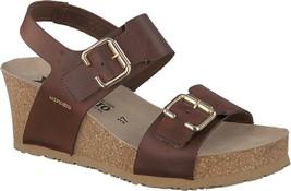 Mephisto Lissandra Slingback Sandals (Women's) in Chestnut Scratch Leath... - $274.01