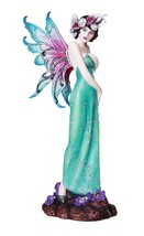 Victorian Art Nouveau Fairy Figurine Decorative Home Accent 15 inches Tall - £56.62 GBP
