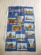 NEW Vintage  LONDON SCENES, ENGLAND Linen Towel - $4.95