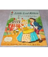 Tip Top Elf Book Little Lost Kitten Rand McNally 1956 Mildred Comfort - $6.95