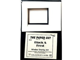 The Paper Cut Black & Frost Window Overlay Kit, Card Kit