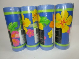 Tropic Topical Flowers Wallpaper Wall Border 4 Prepasted Rolls 60 Feet T... - $20.30