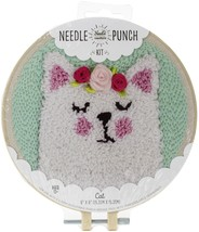 """Fabric Editions Needle Creations Needle Punch Kit 6""""-Cat - $14.69"""