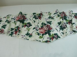 Waverly Pleasant Valley Pattern Lined Window Ascot Valance Roses Floral ... - $19.75