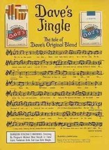 Dave's Cigarette Jingle 1995 Music AD Original Blend Cigarettes - $14.99