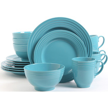 Stanz Home  Turquoise Blue 16 Piece Dinnerware Set Service For 4 - $79.99