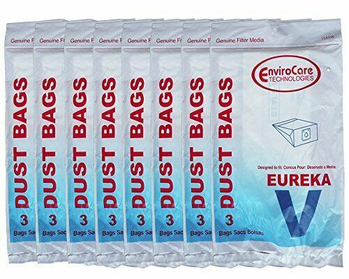 24 Eureka Style V Vacuum Bags Power Team Powerline Canisters World Vac Home Clea - $23.27