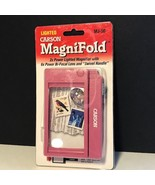 LIGHTED CARSON MAGNIFOLD MAGNIFIER NIB MJ-50 2X POWER SWIVEL HANDLE PINK... - $19.75