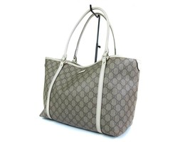 Auth GUCCI GG Pattern PVC Canvas Leather Browns Shoulder Bag GS1613 - $329.00