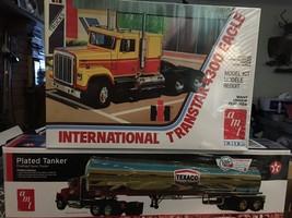 AMT 1/25 International Transtar 4300 Eagle and AMT 1/25 Tanker Trailer S... - $79.20