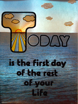 """Today is the First Day"" (Dufex Foil Print #155601) - $4.99"