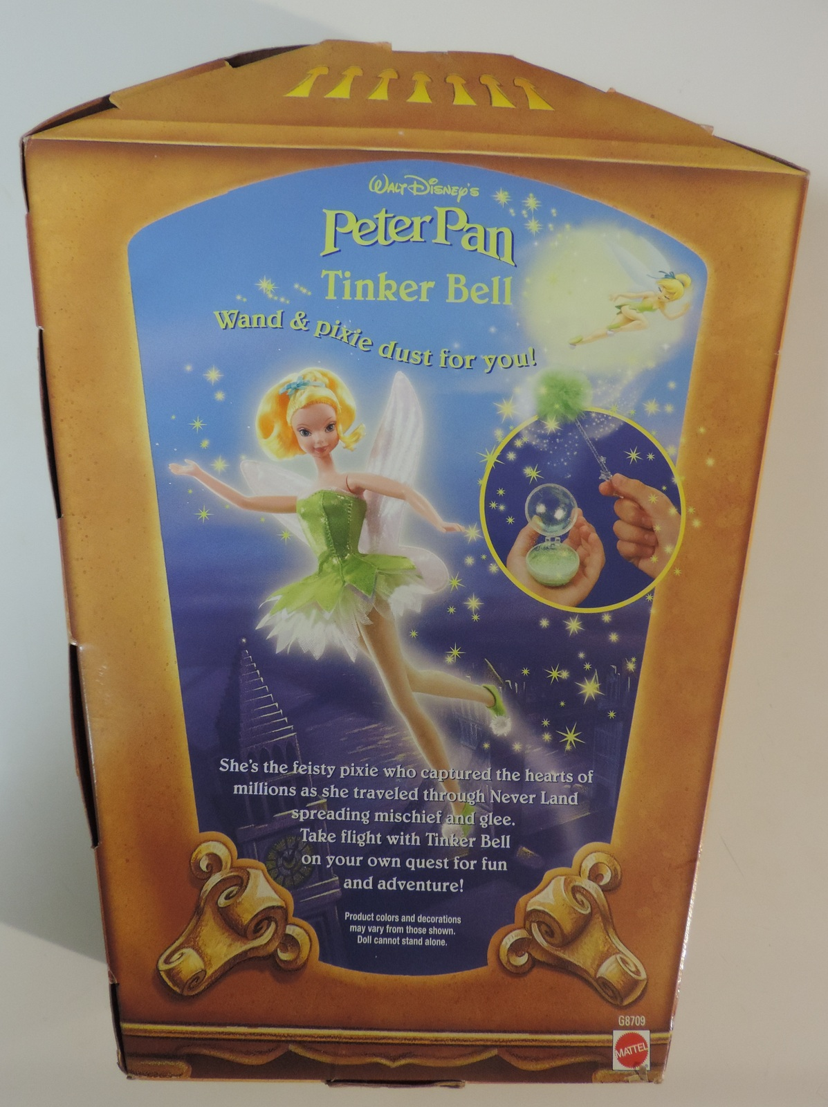 Disney Peter Pan Tinker Bell Fairy Sparkly Pixie Dust doll - New
