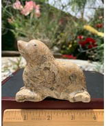 Fossil Stone Carved Sea Lion Seal Mammal Animal Crystal Healing Spirit A... - $36.45