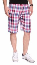 Lacoste Lightweight 100% Linen Plaid Shorts BNWT, Size 34/ T44, $110 - $69.11