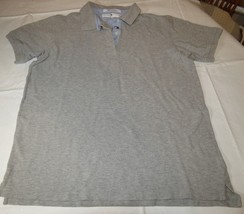 Tommy Hilfiger Golf Mens short sleeve polo shirt L cotton grey heather GUC  - $23.75