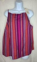 Women's Striped Linen Cami - A New Day Purple - $19.99