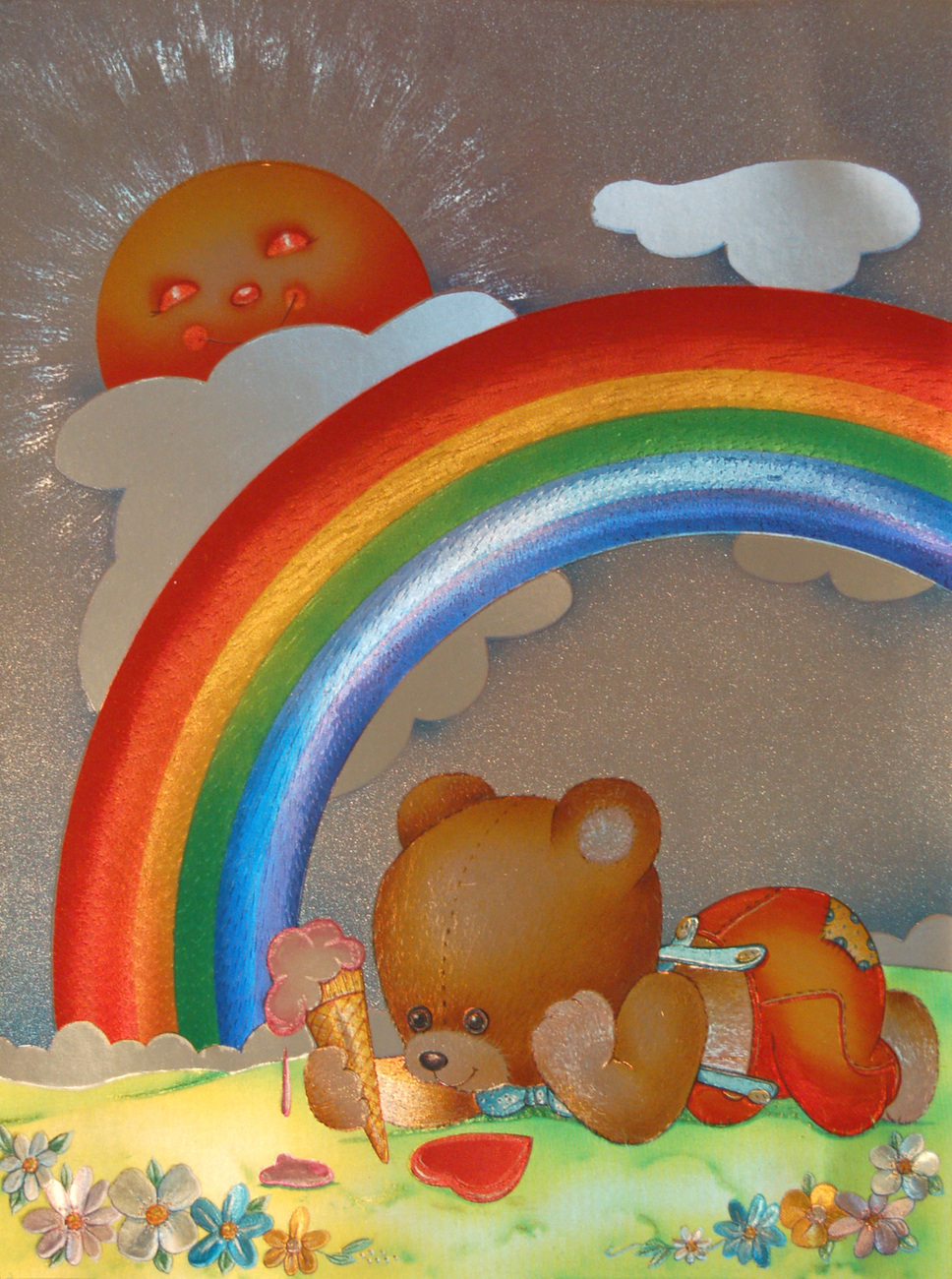152710 rainbow teddy bear