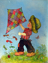 Boy with Kite (Dufex Foil Print #152645) - $4.99