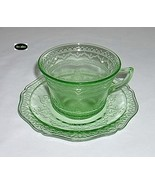 Patrician Spoke Green Cup And Saucer Federal - $13.95