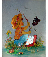 Boy Fishing (Dufex Foil Print #152646) - $4.99