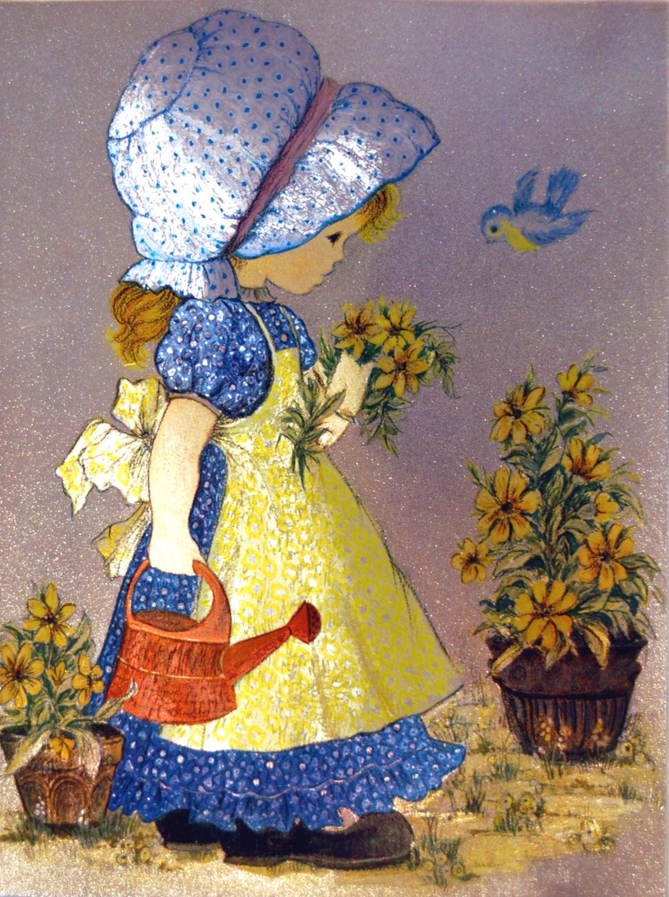152617 little girl gardening