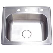Gourmetier Studio GKTS252210 Self Rimming Single Bowl Sink, Satin Nickel  - $120.39