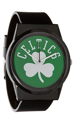 Flud NBA Boston Celtics Black Green Pantone Analog Watch New in Box