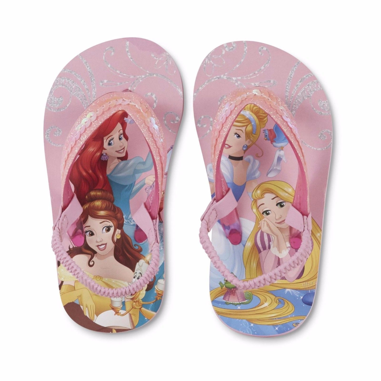 NEW Girls Toddler or Child Disney Princess Flip Flops Size 5/6 7/8 11/12